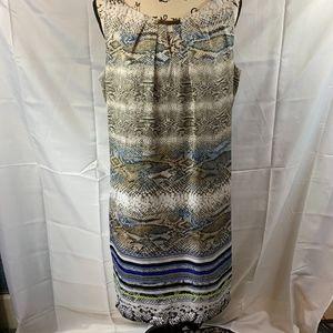 Dana Buchman Sleeveless Dress Midi